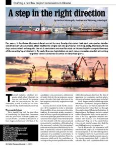BTJ 3-4/18 - A step in the right direction. Drafting a new law on port concessions in Ukraine