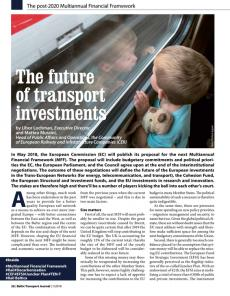 BTJ 1/18 - The future of transport investments. The post-2020 Multiannual Financial Framework