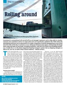 BTJ 1/18 - Rolling around. Deep-sea ro-ro shipping