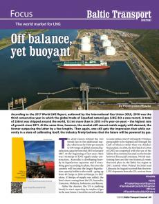 BTJ 1/18 - Focus: Off balance, yet buoyant. The world market for LNG