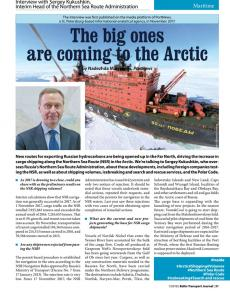 BTJ 1/18 - The big ones are coming to the Arctic. Interview with Sergey Kukushkin, Interim Head of the Northern Sea Route Administration