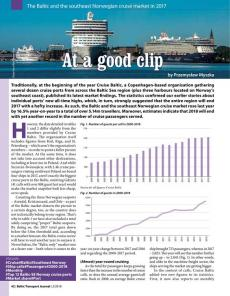 BTJ 2/18 - At a good clip. The Baltic and the southeast Norwegian cruise market in 2017