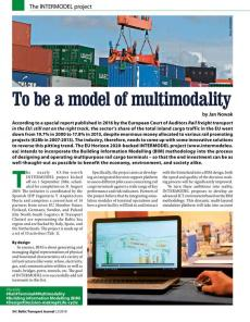 BTJ 2/18 - To be a model of multimodality. The INTERMODEL project