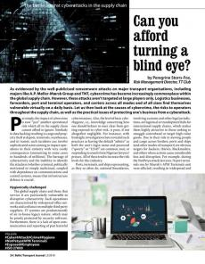 BTJ 2/18 - Can you afford turning a blind eye? The battle against cyberattacks in the supply chain