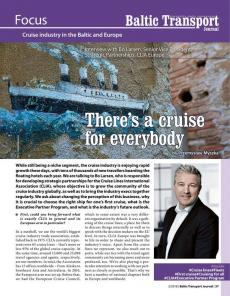 BTJ 2/18 - Focus: There's a cruise for everybody. Interview with Bo Larsen, SVP, Strategic Partnerships, CLIA Europe