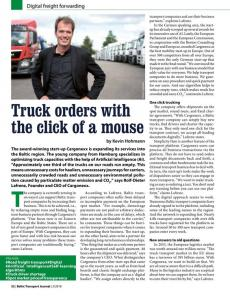 BTJ 2/18 - Truck orders with the click of a mouse. Digital freight forwarding