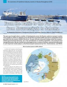 BTJ 2/19 - Maritime: From the Baltic to the Far East, from Novorossiysk to Sabetta. An overview of maritime industry events in Russia throughout 2018