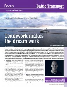 BTJ 2/19 - Focus: Teamwork makes the dream work. Interview with Claus Bødker, Director, Cruise Baltic