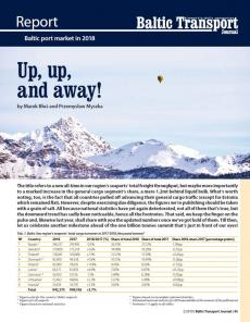 BTJ 2/19 - Report: Up, up, and away! Baltic port market in 2018