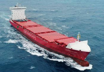 The gas-run Containerships Nord on its way to the Baltic