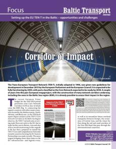 BTJ 6/18 - Corridor of Impact. Setting up the EU TEN-T in the Baltic - opportunities and challenges