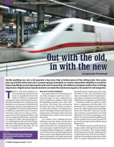 BTJ 3-4/18 - Focus: Out with the old, in with the new. What benefits can digitization bring to rail maintenance