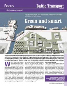 BTJ 1/19 - Focus: Green and smart. Transforming ports into sustainable transportation hubs with shore-to-ship power