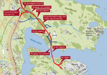 Norrköping to have a new railway