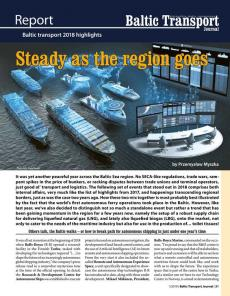 BTJ 1/19 - Report: Steady as the region goes. Baltic transport 2018 highlights
