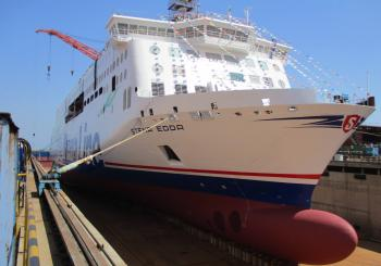 Avic floats out Stena Line's second E-Flexer