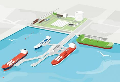 Swedegas' first commercial LNG-LBG bunkering in Gothenburg
