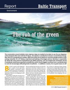 BTJ 6/18 - Report: The rub of the green. Zero-emission shipping by 2035