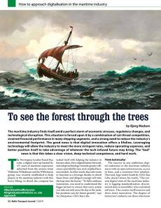 BTJ 1/19 - To see the forest through the trees. How to approach digitalisation in the maritime industry