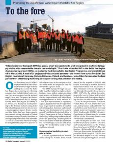 BTJ 1/19 - To the fore. Promoting the use of inland waterways in the Baltic Sea Region