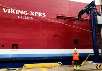 Equipped by ABB, Viking XPRS draws energy from the shore in Tallinn