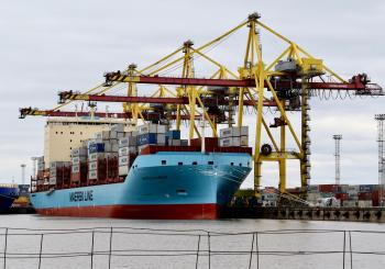 Vistula Maersk arrives in the Baltic