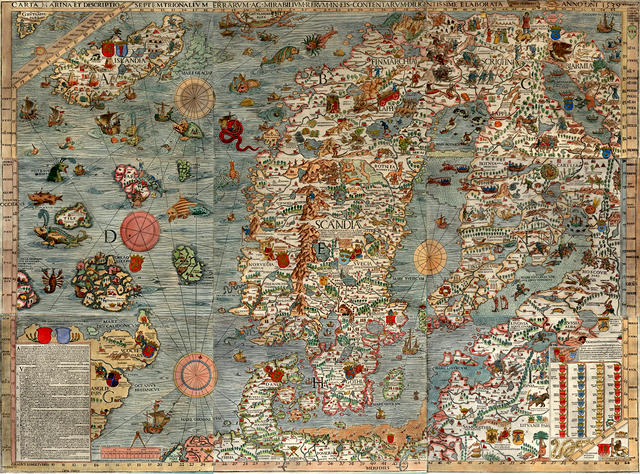 The oldest map of Scandinavia