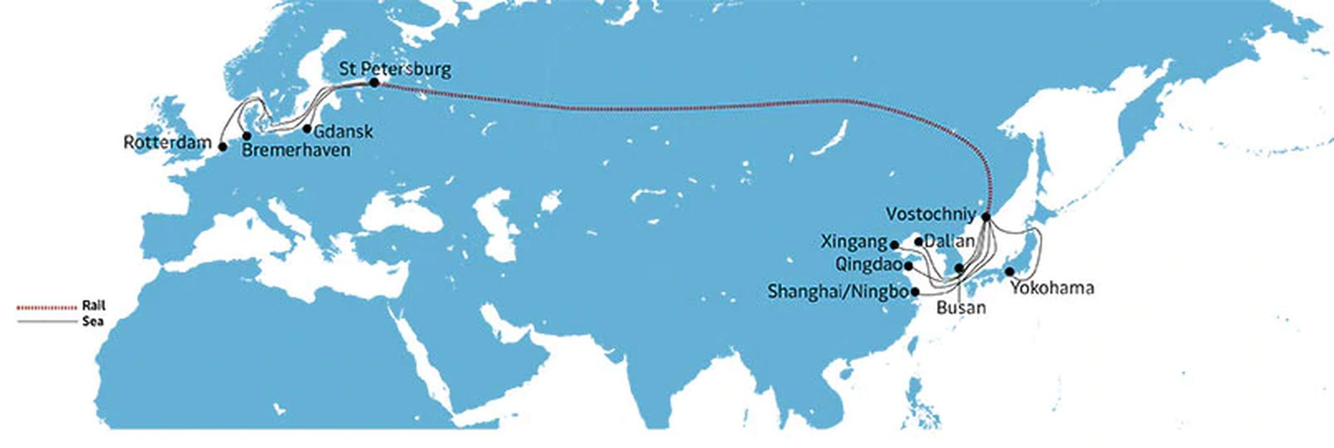 Maersk's AE19 sea-rail-sea goes east