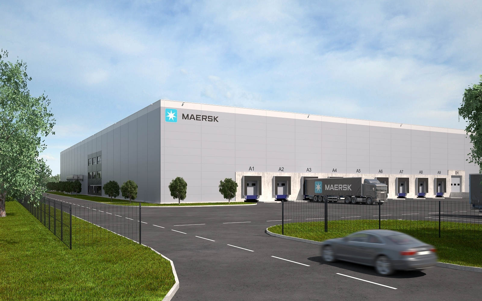 Maersk's first cold storage in St. Petersburg