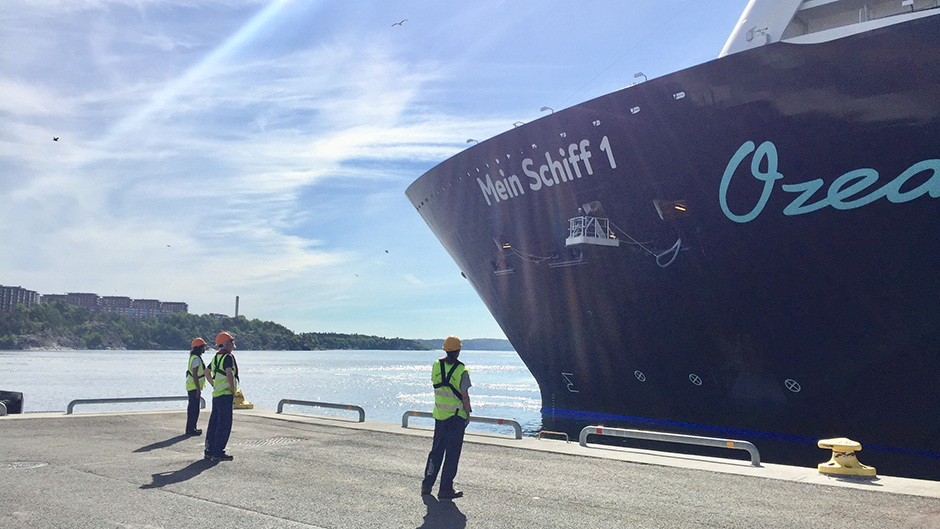 First cruise calls in Sweden